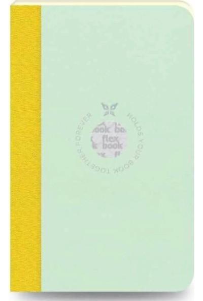 Flex Book Esnek 9x14 cm Pembe Yeşil Şertli Çizgili Not Defteri 56