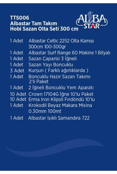 Albastar Tam Takım Hobi Sazan Olta Seti TTS006