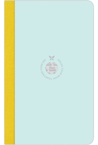 Flex Book Esnek 17x24 cm Açık Yeşil Şerit Çizgili Not Defteri 20