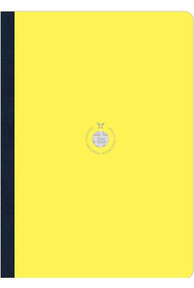 Flex Book Esnek 21x29 cm Sarı Çizgili Akıllı Not Defteri 2100055