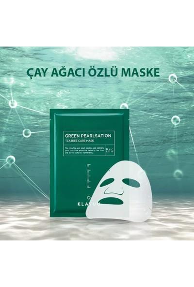 Klavuu Çay Ağacı Özlü Akne Giderici Kağıt Yüz Maskesi 3 Adet