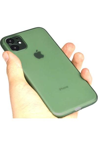 Blupple Apple iPhone 11 Uyumlu Mat Ultra Ince Darbe Emici Kılıf Tiny Telefon Kılıfı Mavi