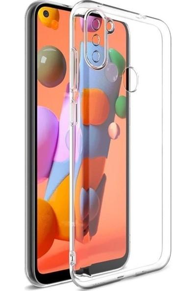 Sunix Samsung Galaxy A11   M11 Için Tıpalı Şeffaf Silikon Kılıf Arka Kapak Şeffaf