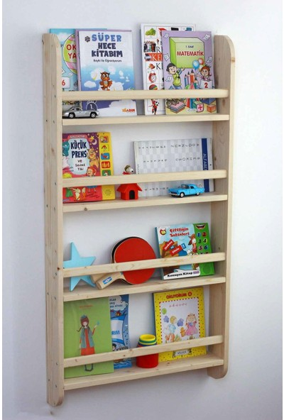 Karabeyoğulları Montessori Duvar Rafı Kitaplık