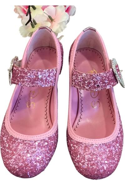 Sparkle Topuklu Ayakkabı Pembe