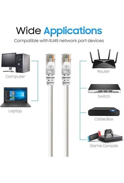 Cat6 Ethernet Internet Lan Network Patch Kablo - Fabrikasyon 30CM