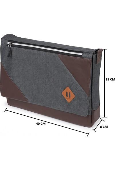Strong 15.6 Inch Laptop Bölmeli Omuz Askılı Postacı Çantası KFT03
