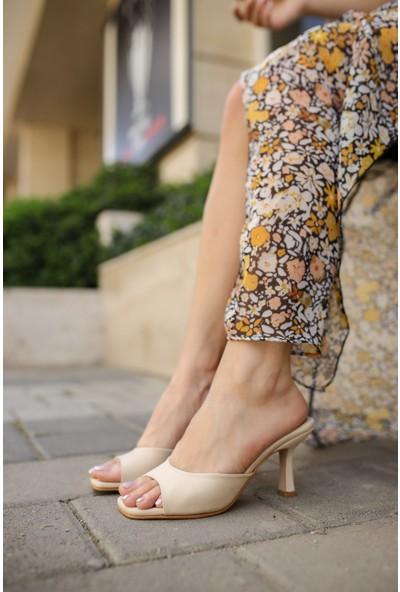 Shoemark Adel Bej Kadın Topuklu Terlik