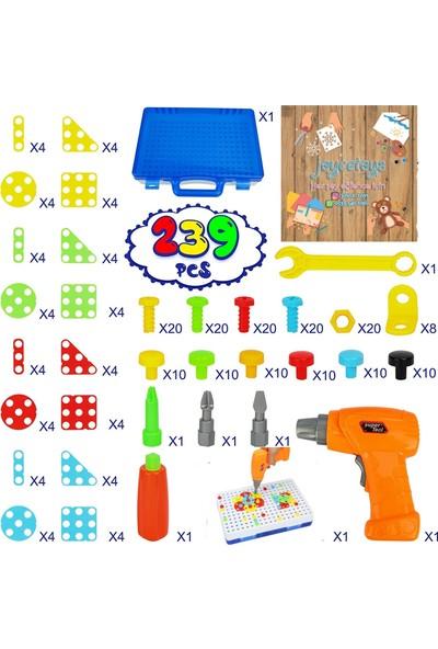Joyce Toys 239 Parça Pilli Matkap Seti