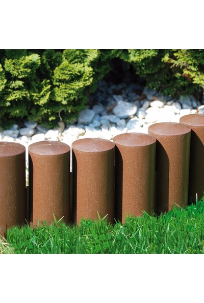 Ekoplas Çim Sınırlayıcı Ahşap Görünümlü Bahçe Bordürü 3 mt Kahverengi