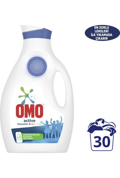 Omo Sıvı Çamaşır Deterjanı Active Beyazlar ve Renkliler İçin En Zorlu Lekeleri İlk Yıkamada Çıkarır 1950 ML 30 Yıkama 1 Adet