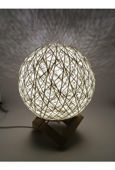 Hutpoint Hasır Küre Konsollu LED Gece Lambası