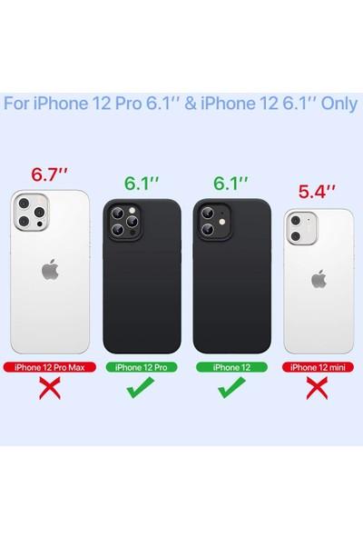 Fibaks Apple iPhone 12 Kılıf Lansman Içi Kadife Soft Yumuşak Dokulu Liquid Silikon Siyah