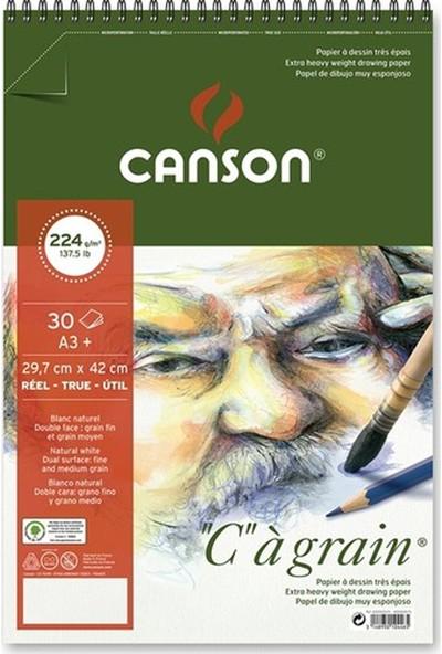Canson Cagrain Yapışkanlı Eskiz Çizim Defteri 224 gr 30 Yaprak A3 Boy
