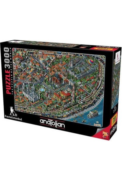 Anatolian 3000 Parça Fractal İstanbul Puzzle - 4913