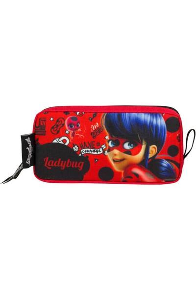 Miraculous Lady Bug Baskılı Kız Çocuk Kırmızı Kalemlik