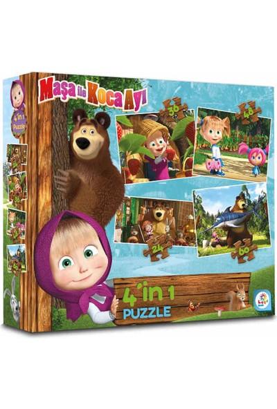 Laço Games 48 + 36 + 24 + 60 Parça Puzzle: Maşa Ile Koca Ayı
