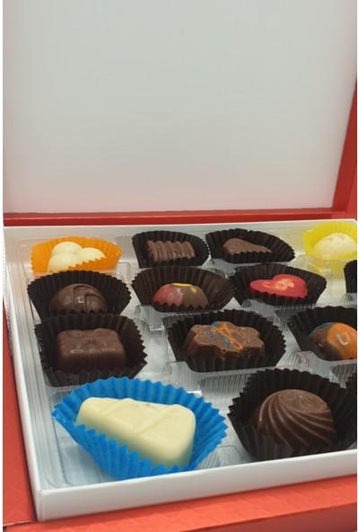 Asırlık 1453 Hediyelik Karma Dolgulu Special Çikolata Kare Kutu 200 gr Kırmızı