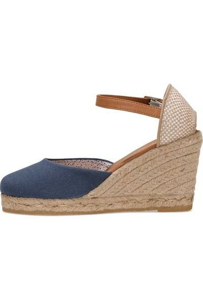 Nine West Artemısıa 1fx Lacivert Kadın Dolgu Topuklu Sandalet