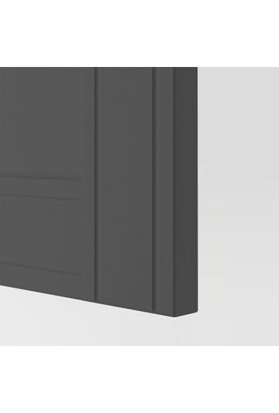 Dekorex MNT-319-ANTRASİT Üç Kapaklı Gardırop