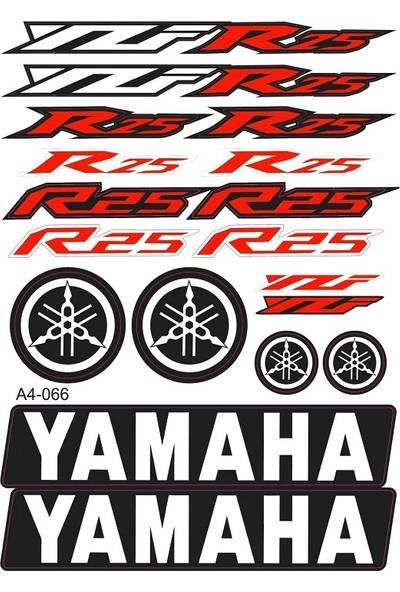 Monero Yamaha Yzf R25 Sticker Yazı Seti Kırmızı