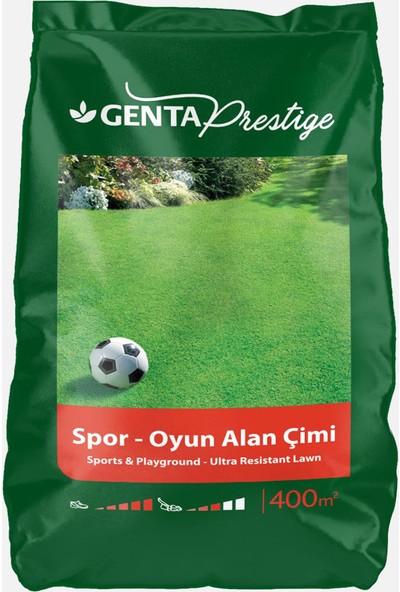 Genta Prestige Spor Oyun Alan Çimi 10 Kg+Bahçem Greenmax Çim Besini 10KG 2'li Set