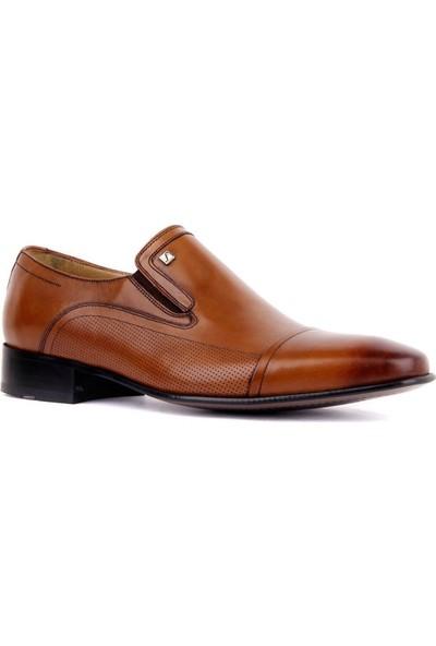 Fosco 3015 Erkek Bağcıksız Deri Neolit Taban Klasik Ayakkabı Taba
