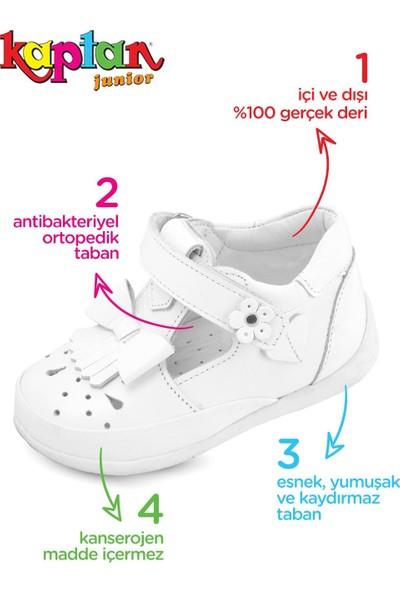 Kaptan Junior Ilkadım Hakiki Deri Kız Bebek Çocuk Ortapedik Ayakkabı Patik
