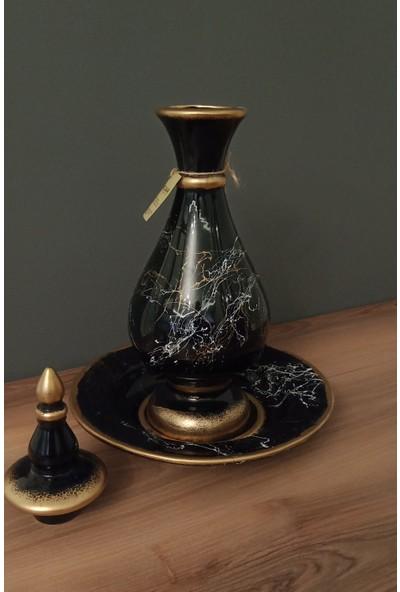 Arc Givalue Dekoratif Konsol Aksesuarı / Siyah-Gold-Beyaz Renk