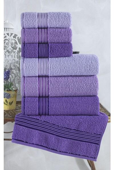 Binnur Alia Pamuk 6'lı Banyo Havlu Seti I Banyo Takımı