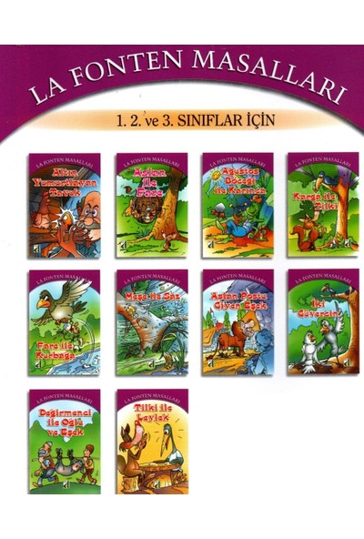 Damla Yayınevi 1. 2. ve 3. Sınıf Hikaye Kitabı 10 Kitap La Fonten Masalları