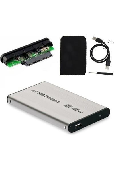 Wozlo 2.5 USB Sata HDD SSD Harddisk Kutusu Aliminyum Gövde Harici HDD Kutu - Gri