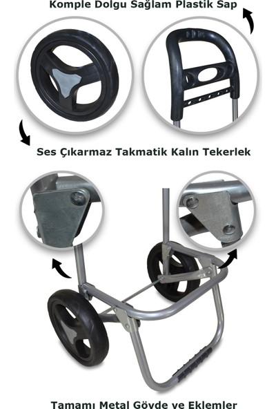 Mehmet Çanta Büyük Çantalı Ses Çıkarmayan Tekerlekli Pazar Arabası M6012 Large