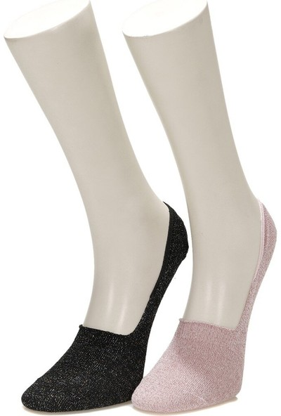 Miss F Sım 2 Lı Suba-W 1fx Çok Renkli Kadın 2li Soket Çorap