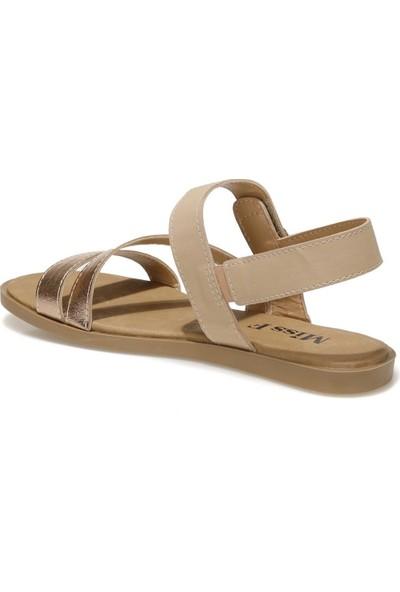 Miss F DS21081 1fx Altın Kadın Sandalet