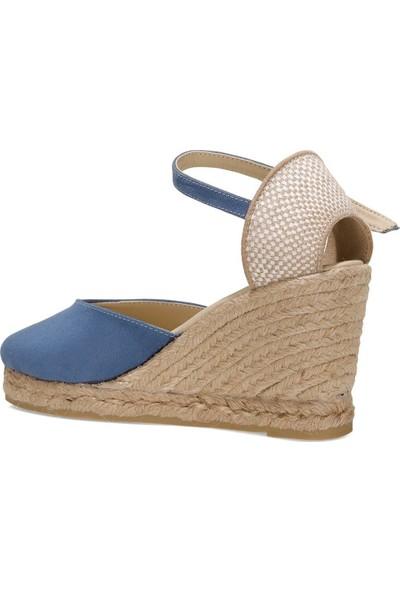 Inci Amatıso 1fx Mavi Kadın Dolgu Topuklu Sandalet