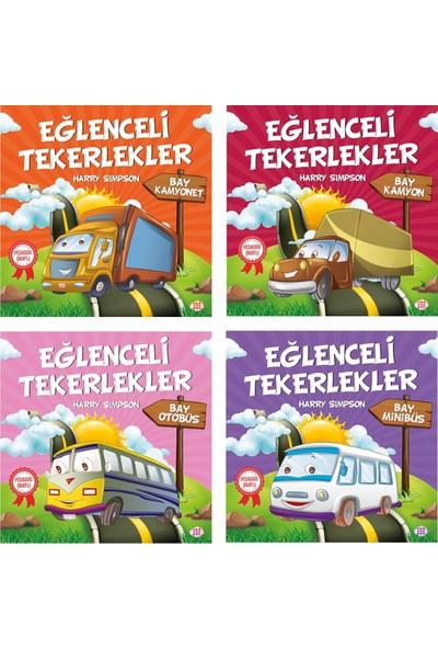 Dokuz Çocuk Pedagog Onaylı Eğlenceli Tekerlekler Öykü Serisi 4 Kitap (Set 1)