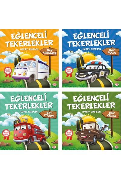 Dokuz Çocuk Pedagog Onaylı Eğlenceli Tekerlekler Öykü Serisi 4 Kitap (Set 3)