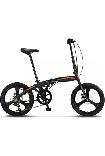 Ümit Folding 2037 2d 20 Mdisk Katlanır Bisiklet Siyah-Turuncu- 100269