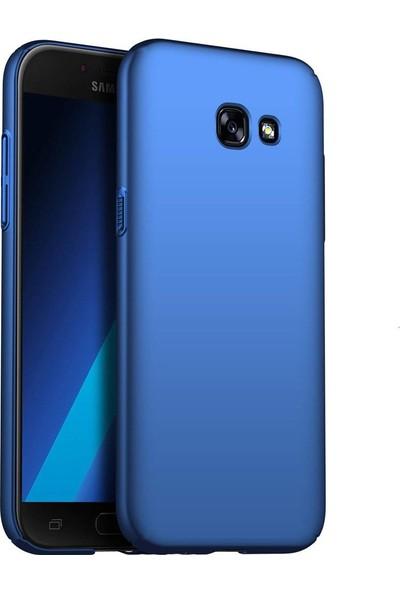 Samsung J7 Prime Uyumlu Mavi Ince Soft Premier A+ Slikon Mat Kılıf Oil Arka Kapak