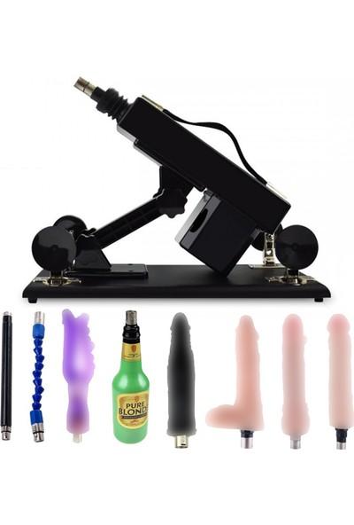 Siyah Seks Makinesi +1 Vajina + 5 Vibratör+Çubuk Komple Set