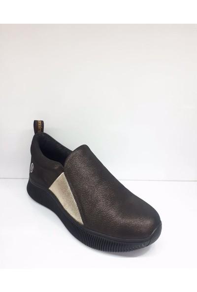 Messimod H19K3117 Kadın Leoparlı Deri Comfort Günlük Ayakkabı
