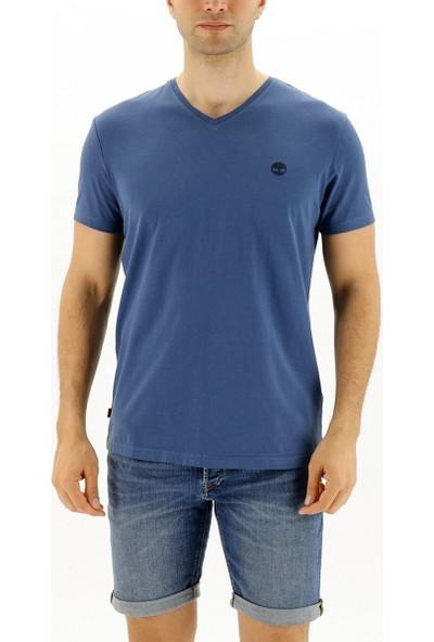 Timberland Ss Dunstan Rıver Jersey V Lacivert Erkek Kısa Kol T-Shirt