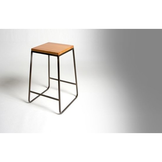 Abronya Tabure Yüksek Sandalye Ahşaplı Tabure Bar Taburesi Metal Ayaklı Tabure Modeli
