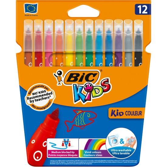 Bic Kids Couleur Yıkanabilir Keçeli Boya Kalemi 12 Renk