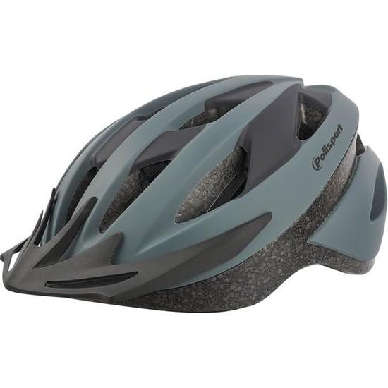 Polisport Sport Ride Kask - Bisiklet Kask L Beden Gri Renk