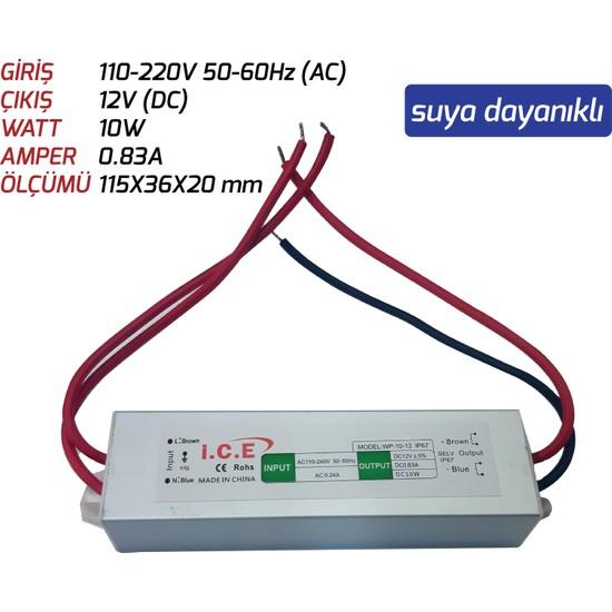 Ice LED Trafosu (10W) 12V Suya Dayanıklı