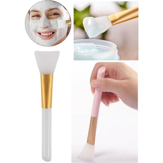 Mujgan Beyaz Silikon Maske Sürme Fırçası