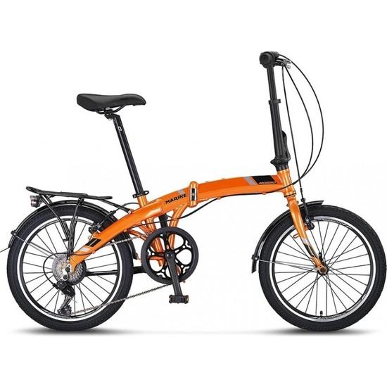 Mosso Marıne-20 Jant Katlanır Bisiklet 7 Vites-Turuncu