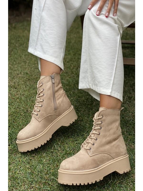 İnan Ayakkabı Kadın Fermuarlı Bot